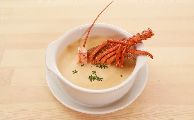 伊勢海老のクリームスープ ¥1,280+税